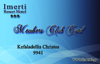 IMERTI HOTEL - MEMBER CARD SIMPLE